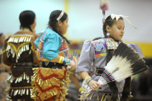 Annual Dance for Mother Earth Powwow - jingle dress side-step